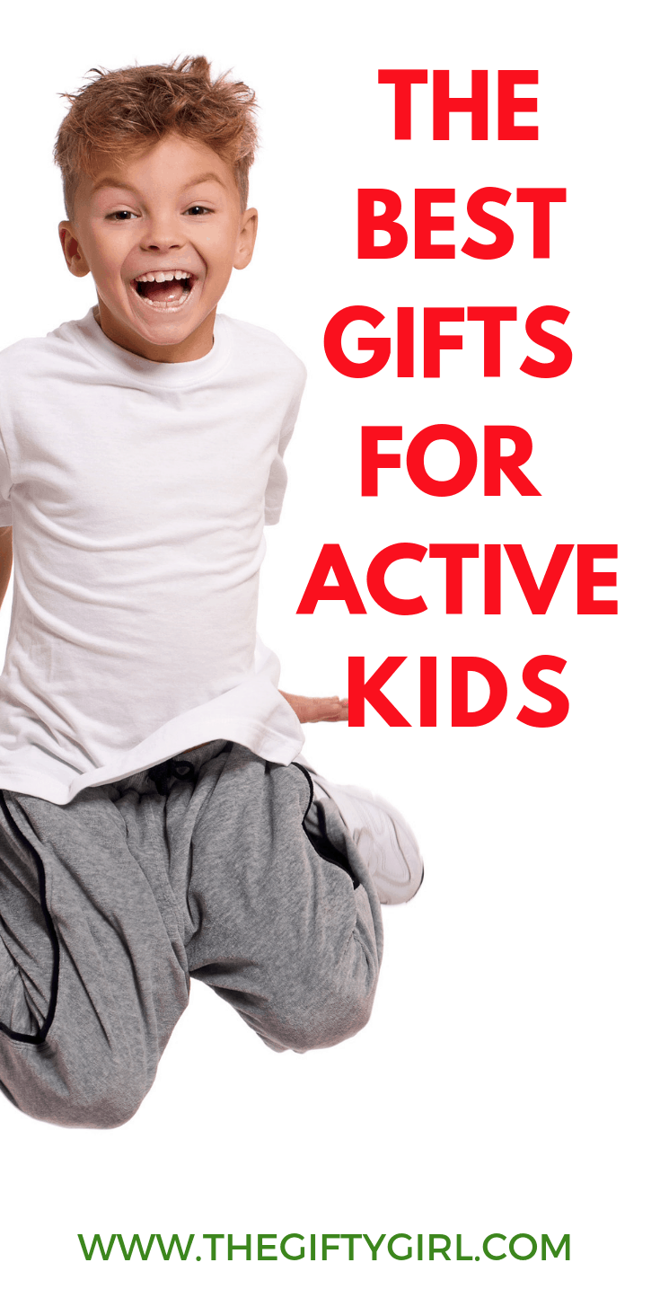Whether you have a kid with a ton of energy or are looking for toys and gifts that will keep your child more active during the long winter months, here are 15 amazing gift ideas for active kids! #thegiftygirl #giftideas #giftideasforkids #giftsforboys #giftsforgirls #activegifts #childhoodunplugged #giftsforkidsinthewinter