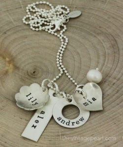 hand stamped jewelry gift idea