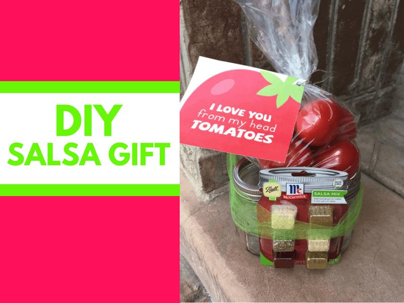 DIY Salsa Gift with free printable tags