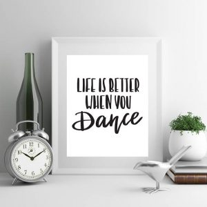 gift for teen girls, gift for dancers dance wall art
