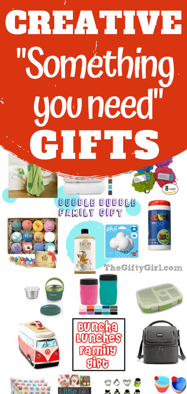 "These creative gift ideas are perfect for ""Something you need"" gifts. These gift ideas work great for kids, tweens, teens and adults."
