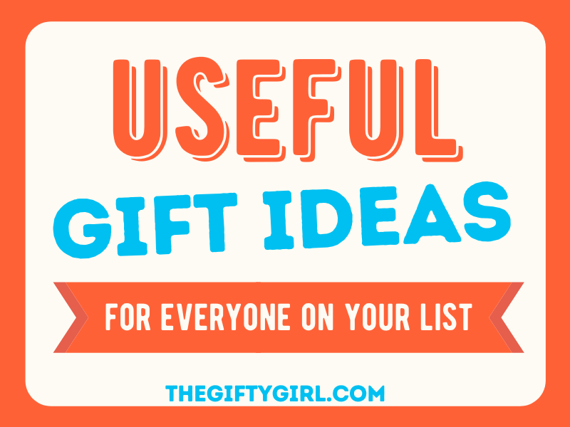 All text, saying Useful Gift Ideas for everyone on your list.