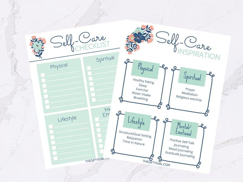 Free Printable Self-Care Worksheets