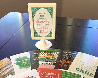 Gift idea for Teachers 12 inspiring quotes to rotate