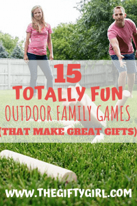 family gift exchange ideas outdoor family games