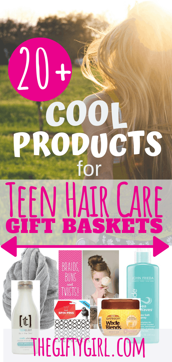If you are looking for a great gift idea for a teen girl on your list, here are more than 20 cool products for teen hair care gift baskets. Girls will love the useful, exciting and fun! #teengiftbasket #giftbasketforteen #giftbasketforgirls #haircaregiftbasket #christmasgifts #christmasgiftsforteens #giftguides #christmas2018 #creativegifting #thoughtfulgifting #giftideas #giftideasforgirlswholovetheirhair