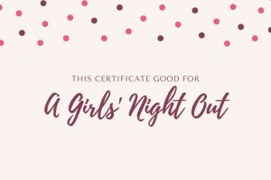 Girls Night Out Experience Gift