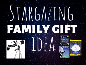 These 13 products will make an amazing stargazing family gift! Kids of all ages (and parents too!) will love to spend quality time together looking up at the wonder and mystery of the night sky. #familygiftidea #familygift #christmas #christmasgiftidea #giftbasket #wholegiftidea #thegiftygirl #creativegifting #thoughtfulgifting #giftbasketsforfamily #giftguide