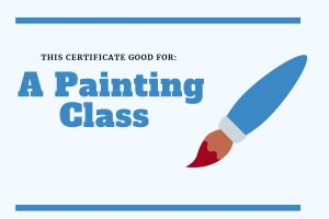 experience gift for kids painting class certificate