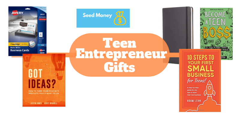 Teen  Entrepreneur Gift Ideas, business books for teens, side hustle books for teens