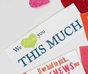 We Love you THIS much DIY Valentine's Gift for Kids tag