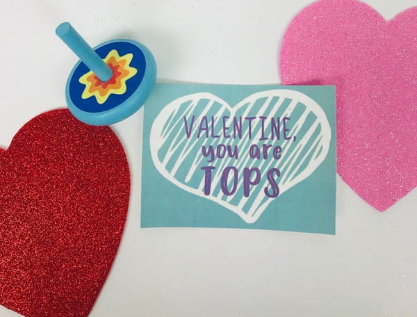 Valentine, you are tops free printable tag for TOP