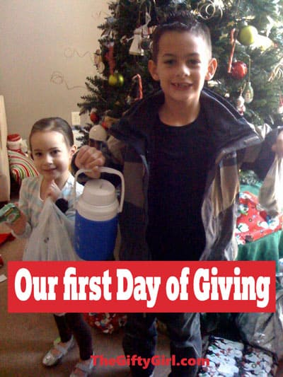 Children getting ready for a meaningful family Christmas Tradition.