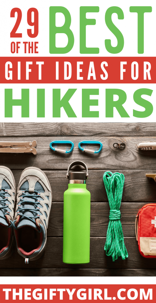 Gifts for Hikers that are useful, unique and inspiring! These 29 products will make amazing gifts for men and women who love to hike.  Whether you are looking for birthday gifts for hikers or Christmas gifts for hikers, these ideas will help you buy the best gift for the hiker on your list.