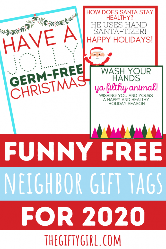 2020 Neighbor Christmas Gift Tags