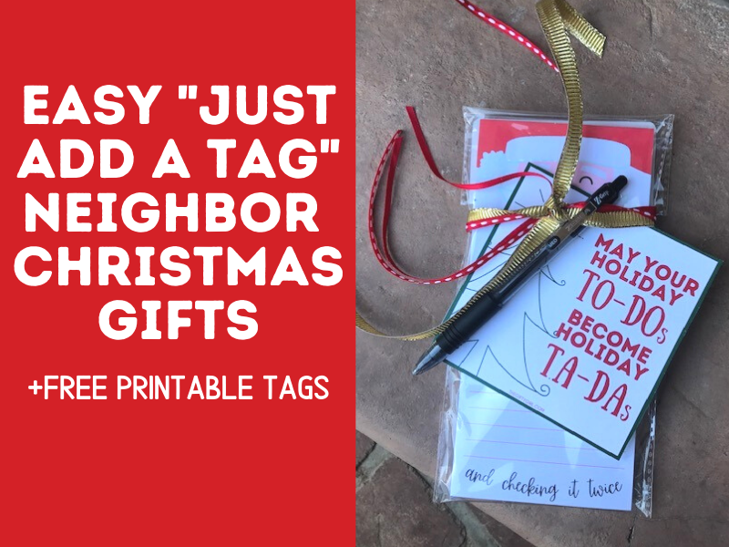 Photograph of to-do list with a gift tag that says May your holiday to-dos become holiday ta-das